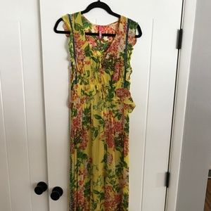 Anthropologie Floral Maxi